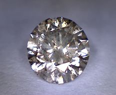 Diamond — 1.15 ct — Round Cut — Intense Brown — SI2