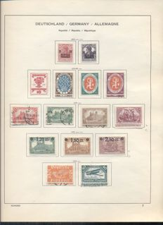 German Reich 1919/1923, American, English and Russian Occupation issues 1946/1949 - Collection in album and on sheets