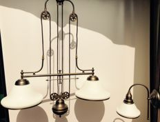 Large classic double pendant lamp and wall lamp