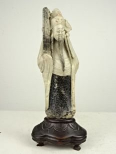 Antique soapstone sculpture of a gentleman - China - 19th century