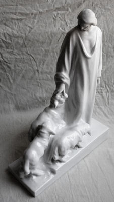 Herend porcelain sculpture, on a model of Janos HORVAI (1873-1944)