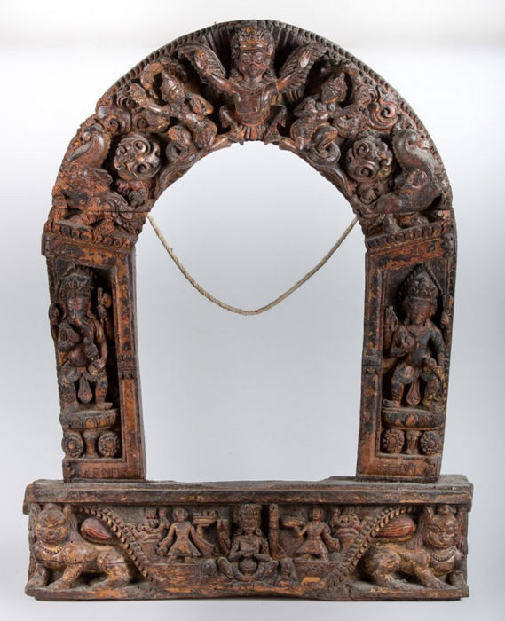 Torana Polychrome Wood - Nepal - 18th century