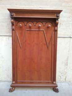 Empire coat-stand, solid walnut wood - 20th century