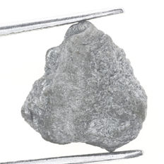 Natural Rough Raw Loose Diamond Brazilian Gray Colour Unheated / Untreated - 10.64 x 10.30 x 4.93 mm - 4.39 ct