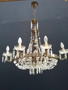 Pair of crystal chandelier - Art Nouveau, Italy, circa 1900