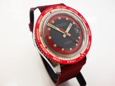 Seawatch Diver's World Time Bezel Swiss Made Vintage Men's WristWatch 1960's