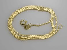 18k Gold Necklace. Gourmet Chain - 50 cm