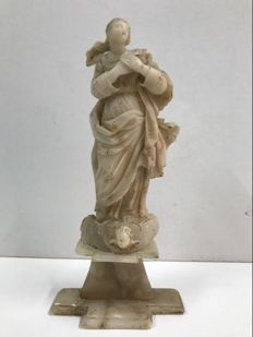Virgin in Alabaster - Trapani, Sicily, 18th century