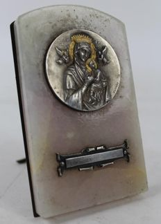 Christian icons - Onyx and silver