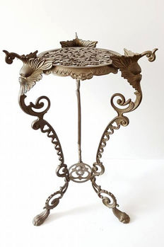 Bronze/brass ornate plant table - from the 60s - France