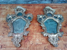 A pair of mirrors in gilded wood - Rococo period - Venice Italy - 18th century