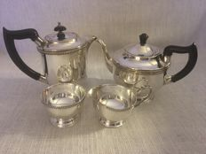 "Vintage set of four (4) silver plated tea and coffee pots plus cream and sugar bowls  ""VINERS OF SHEFFIELD "" second half of 19th century"