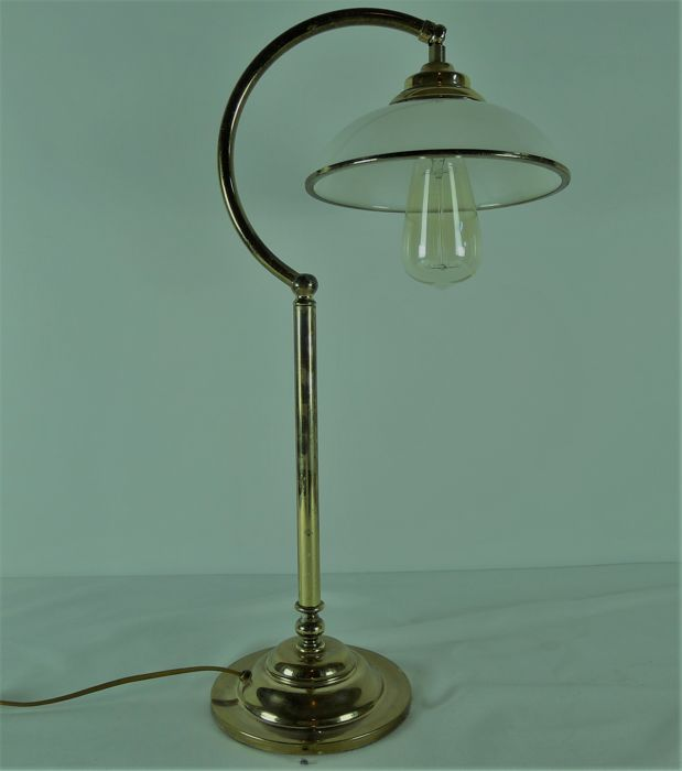 Large Brass Table Lamp In Art Deco Style Late 20th Century Catawiki