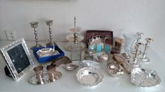 Large collection of silver plated objects