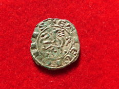 Spain – Alfonso X the wise (1252 – 1284) prieto maravedi of fleece (0.86 g, 17 mm) Growing mint mark