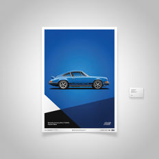 Porsche collection - fine art print - Porsche 911  2.7RS - Glacier Blue - 70CM X 50CM