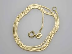 18k Gold Necklace. Gourmet Chain - 45 cm