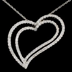 Necklace in 18 kt Gold with 1.52 ct Diamonds -- Width: 3.2 cm -- Height: 3.0 cm