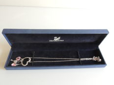 Swarovski- Necklace and Pendant with 4 Hearts