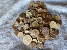 Ancient Greece, Sicily, lot of 100 AE coins from IV and V century BC