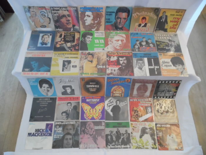Great Lot of World-Stars Forever - In 75 Singles - Rock & Roll - Folk - Country-Rock & Popular - 61 Singles in Original Picture-Sleeves & 14 Singles
