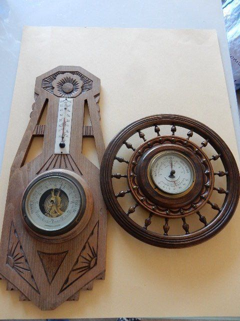 Art Deco - 1930 - two very beautiful barometers thermometers including 1 aneroide - France