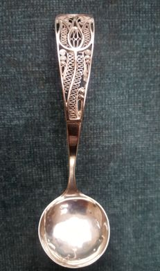 Silver cream ladle, W.&vH, Germany, 2nd half of the 19th century