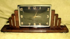 Art Deco fireplace mantel clock with electric movement