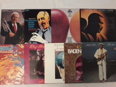 Lot of 9 Jazz and Blues Vinyl - Quincy Jones, Scott Hamilton, The Mezzrow/Bechet Quintet, Ruby Braff & Scott Hamilton, Michael White, Baden Powell, Jacques Loussier, Ray Charles, Kwartet Tommy Chainers,