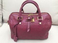 Louis Vuitton - Aurore Monogram Empreinte Leather Speedy Bandouliere 25 bag