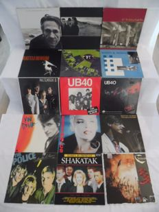 Lot of 14 Albums & 1 Maxi - In 16 Records -  Alternative Rock - New Wave & Reggae - The Cure - U 2 (3)- Simple Minds (2) - Pretenders - UB 40 (2) -