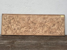 Vintage Wall Plaque from Tichenreuther, featuring sceen reminscent of Greek Mythology, 1960's-70's