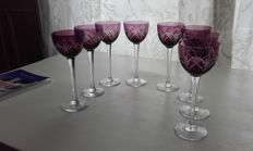 8 Crystal port wine glasses