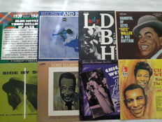 Lot of 8 Jazz and Blues Vinyl -  2x Duke Ellington, 2x Chick Webb, Various Artist (2 LP Set), Sidney Bechet, Billie Holiday, Fats Waller