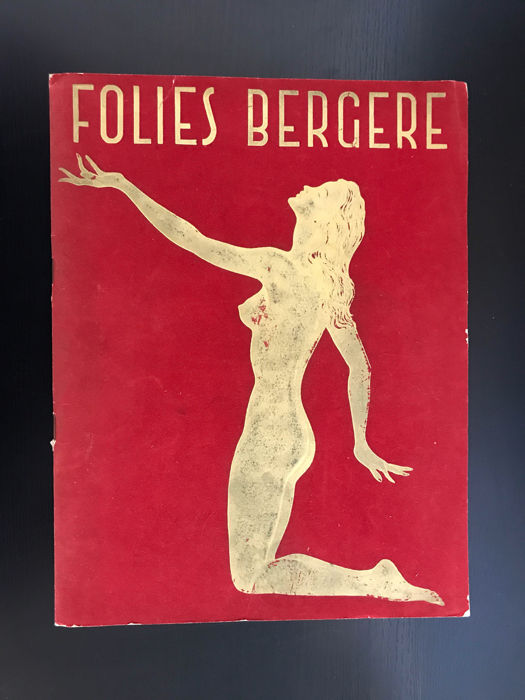 Art Deco Folies Bergère brochure - 1950