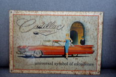 Original Cadillac Metal Sign-41cm/28cm-1960's