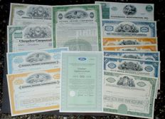 13 x US Cars, Ford Motor, General Motors + Chrysler