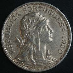 Portugal -- 50 Centavos -- 1930 -- Portuguese Republic -- Cape Verde Colony -- Very Rare -- AG: 04.01 -- Excellent Condition