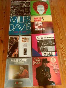 Miles Davis 6 lp records and 2 other jazz records [total 8 records]