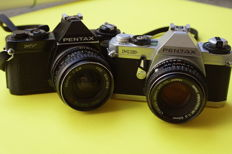 Pentax mv with tokina 28mm f 2.8 + pentax mg with 50mm f 2