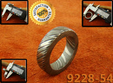 Damascus Steel Men's Ring  (9558-54