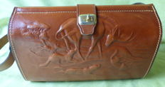Traditional Bag - Beautiful Leather Bag with Hunting Scene