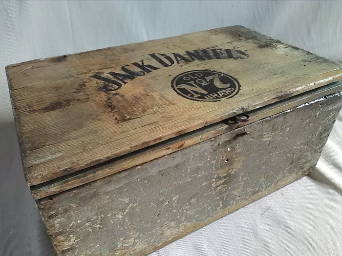 Old Jack Daniel's wooden box