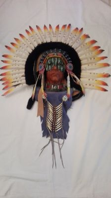 Beautiful large-size Western mask - America 1980s