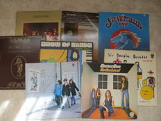 Legends of  (PROG) ROCK early seventies  -  Various Artists lot of eight (8) LP's