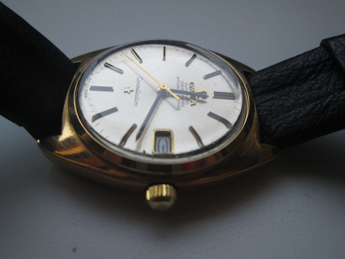Vintage 1966 18K Gold Omega Constellation Chronometer Automatic 168009 Cal. 561