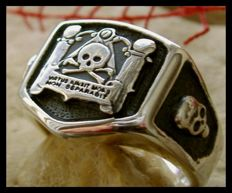 Unique Skull Latin Ring Sterling Silver 925 - size 13,5