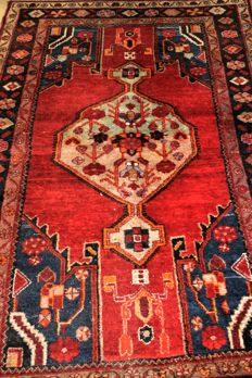 A gorgeous rug Hamadan/Iran/ wool on cotton, must be seen from up close. Hamadan rug 230 x 135