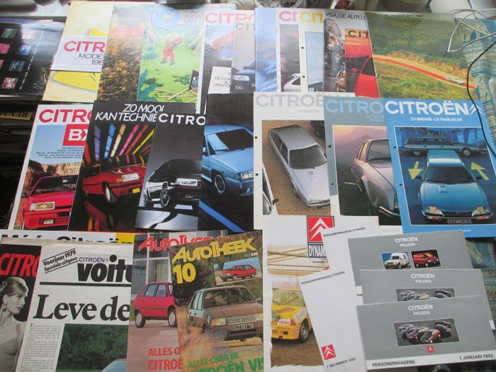 Car brochures (Citroën, including 2CV/CX/Axel, 26x, 1980-1991)