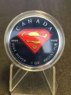 Canada - 5 Dollars 2016 'Superman' in colour - 1 oz silver